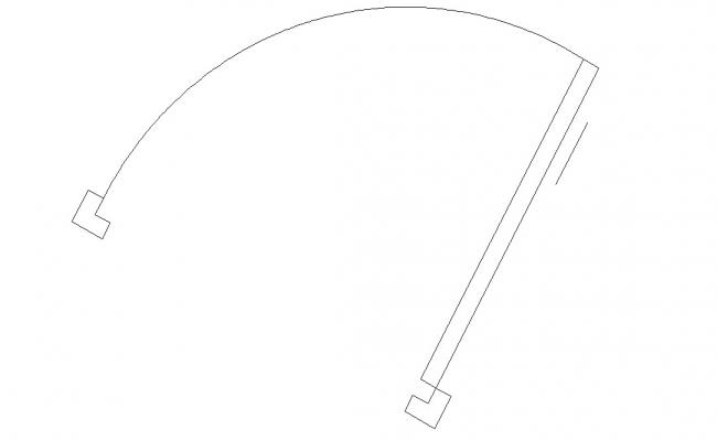 Door plan CAD drawing download