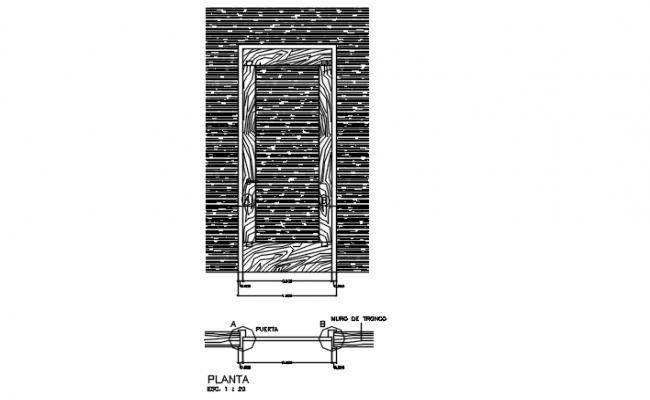 Wooden Door AutoCAD File