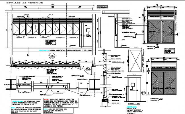 Door plan and elevation framing detail dwg file