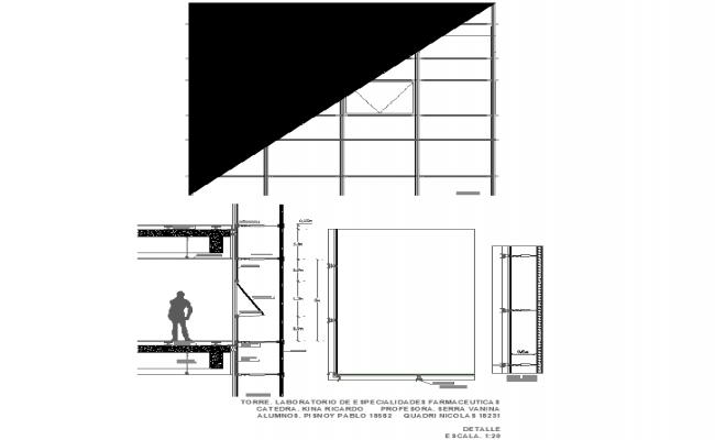 Door plan detail dwg file