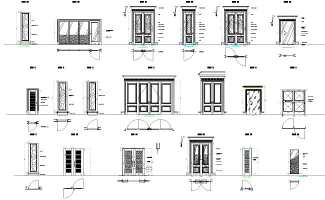 Door plan detail dwg.