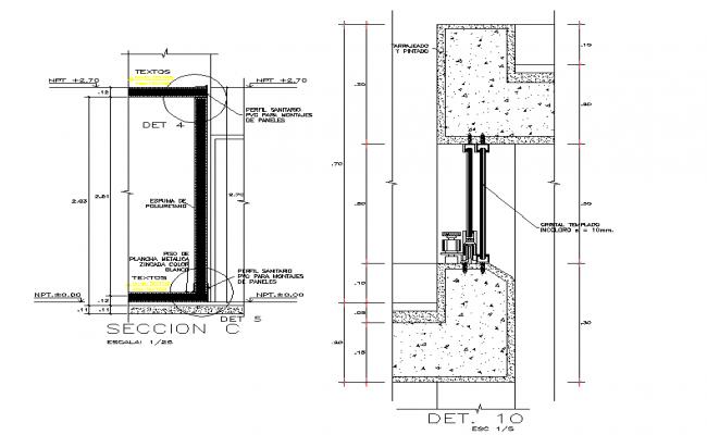 Door section detail