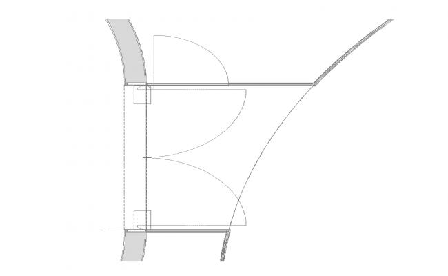 Door structure 2d view detail layout Autocad file