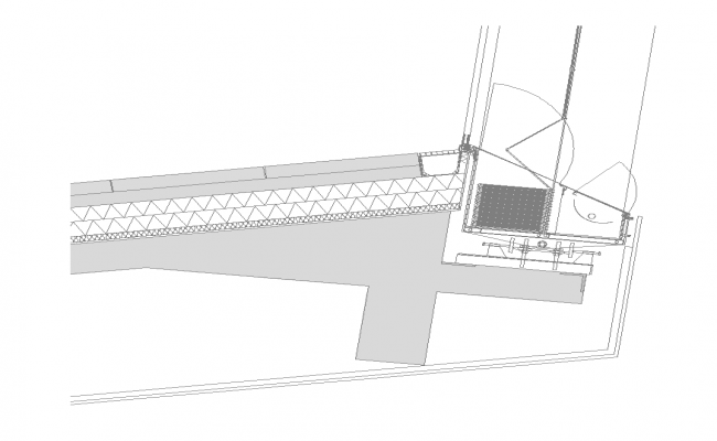 Door structure detail sectional plan layout 2d view dwg file