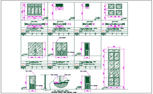Door window detail dwg file