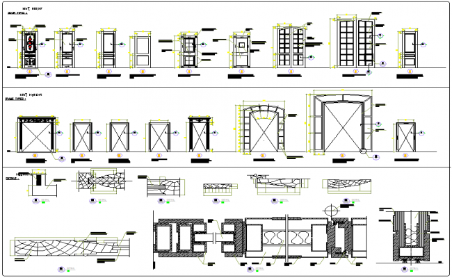 Door window detail view dwg file