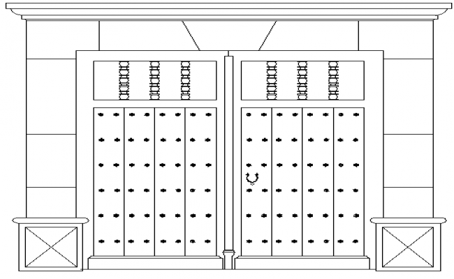 Doors Sample Architecture Layout dwg file