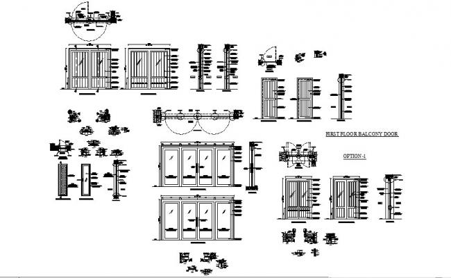 Doors and windows installation drawing details of house dwg file