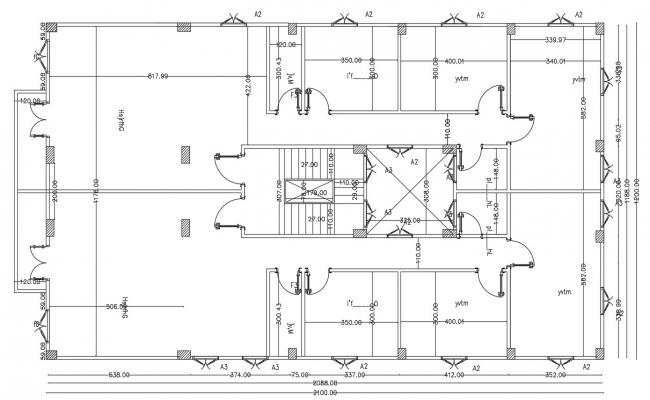Dormitory Layout AutoCAD Plan Download