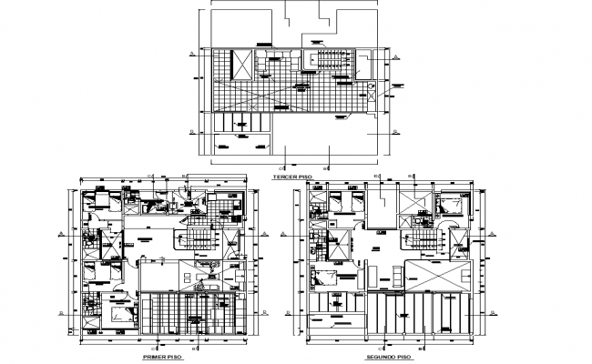 Dormitory plan dwg file