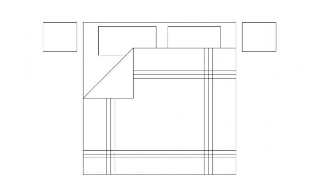 Double Bed CAD Blocks