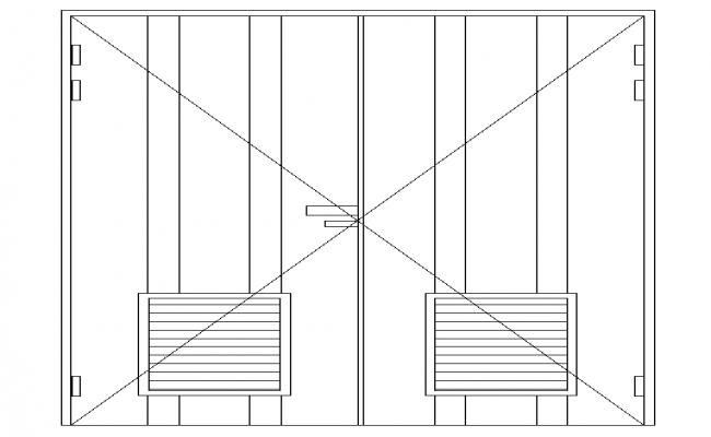 Double Side Door Block Detail