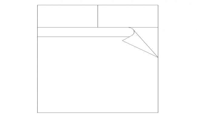 Double bed detail elevation 2d view layout autocad file