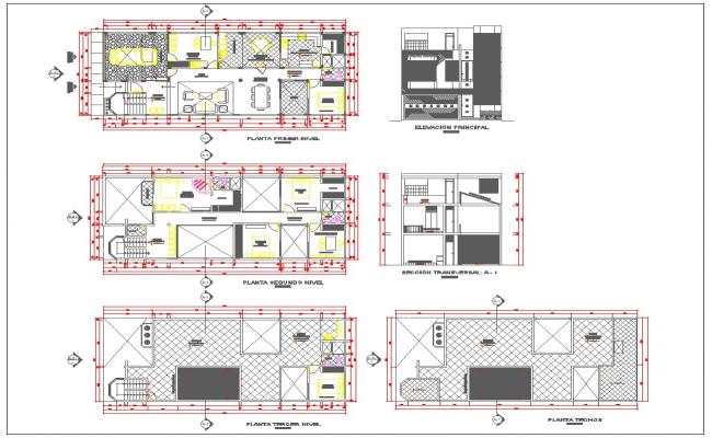 Double Storey House Architecture Plan And Detail