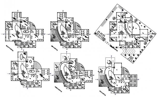 Download Bank Plan AutoCAD drawing