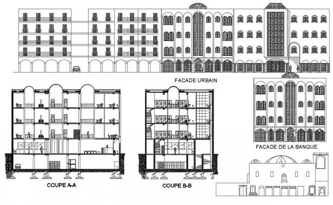 Download Bank design CAD File