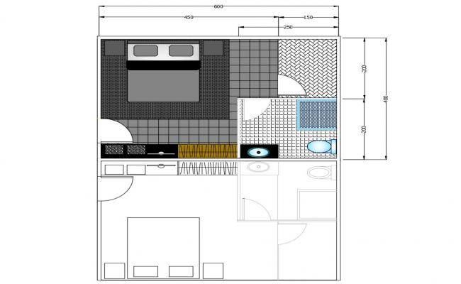 Download Bedroom Plan AutoCAD File