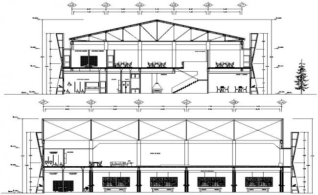 Download Building Section Drawing CAD File