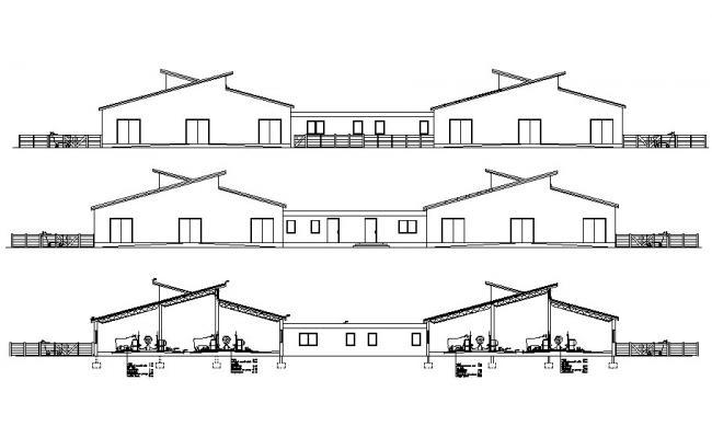 Download Cattle Shade Design CAD File