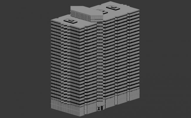 Download Commercial Building 3d Max file