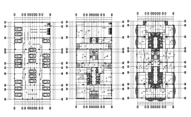 Download Commercial Building Design Floor Plans With AutoCAD File