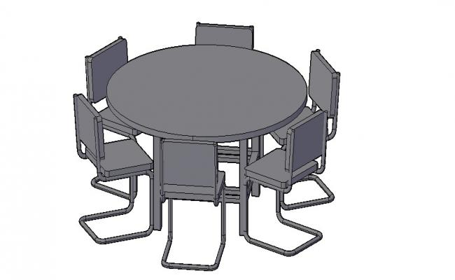 Download Free 3D Office Table 3D Model In DWG File