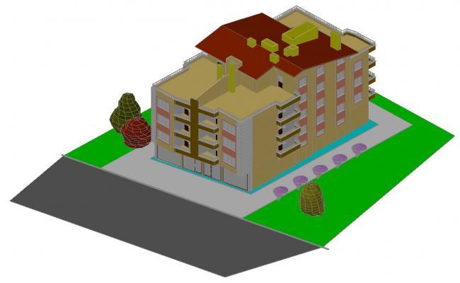 Download Free 3d Villa Design  In AutoCAD File