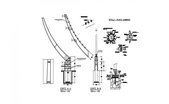 Download Free Beam Details In AutoCAD File