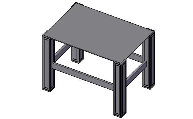 Download Free Center Table 3D Model In AutoCAD File
