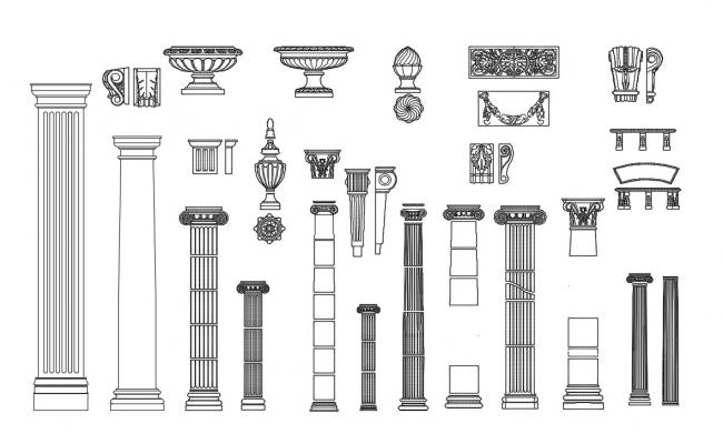 Download Free Craving Tradition Column Design DWG File
