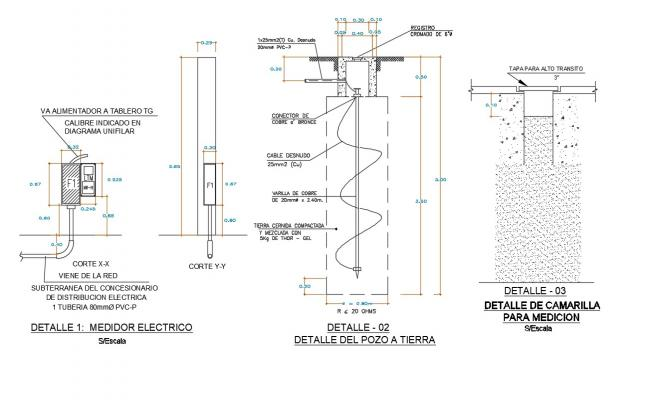 Download Free DWG File Of Ground Well Section Drawing