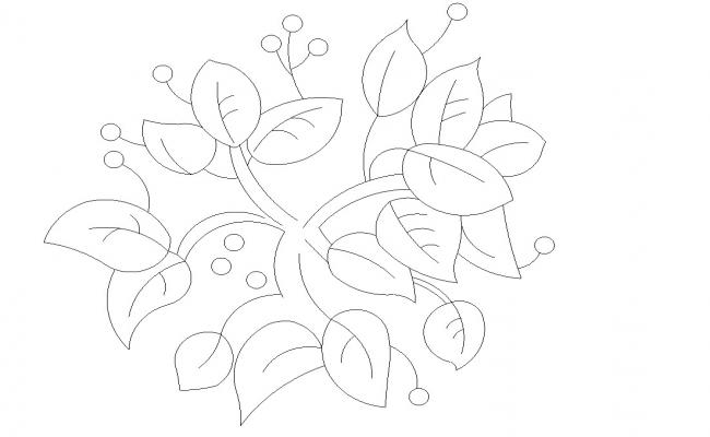 Download Free DWG File Plant Leaf CAD Blocks