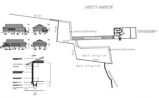 Download Free Existing House Plan DWG File