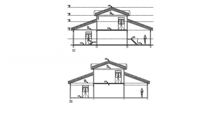 Download Free House Section Drawing In AutoCAD File