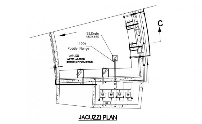 Download Free Jacuzzi Plan In AutoCAD File