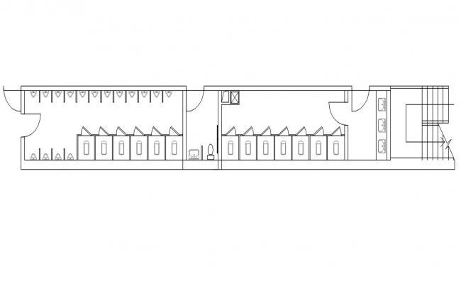 Download Free Public Toilet CAD Plan