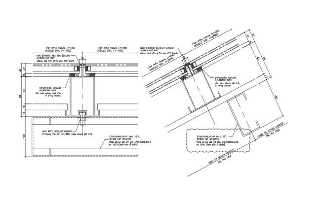 Download Free Roof Expansion Joint DWG File