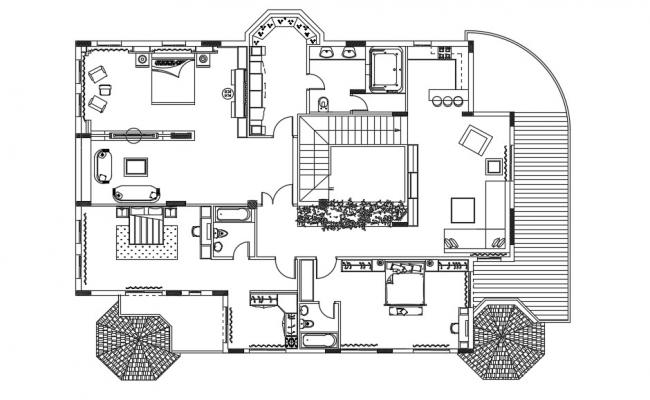Download Free Villa Layout Plan In AutoCAD Drawings