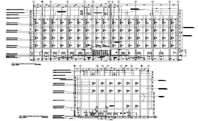 Download Modern Commercial Building Elevation Designs AutoCAD File