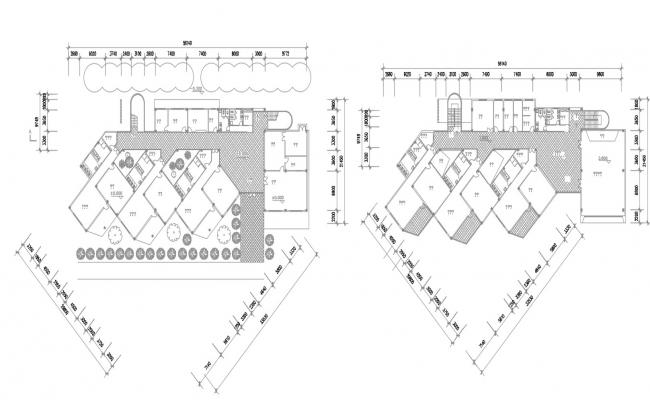 Download Modern Plan Of Commercial Building AutoCAD File