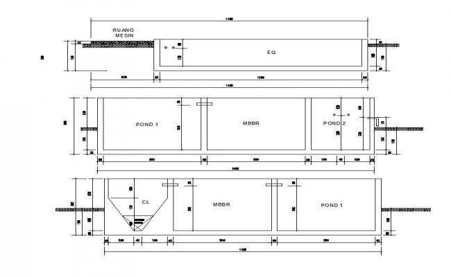 Download Pond Water Purification System AutoCAD Drawing