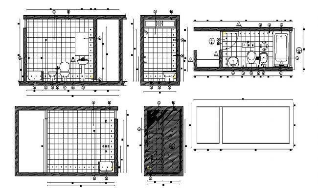 Download Restroom Plan CAD File