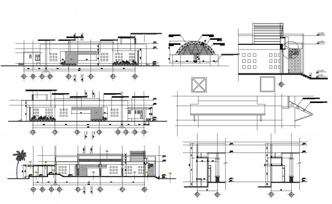 Download Shop Elevation CAD Drawing