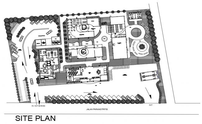Download Site Plan Drawing CAD File