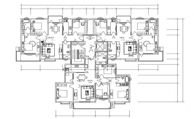 Download The 3 And 4 BHK Apartment Design Plans DWG File