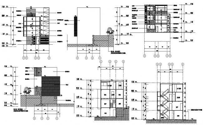 Download The Bungalow Elevation And Section Design AutoCAD File