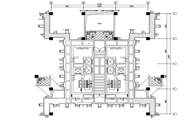Download The Ceiling Layout Plan Of Commercial Building DWG File