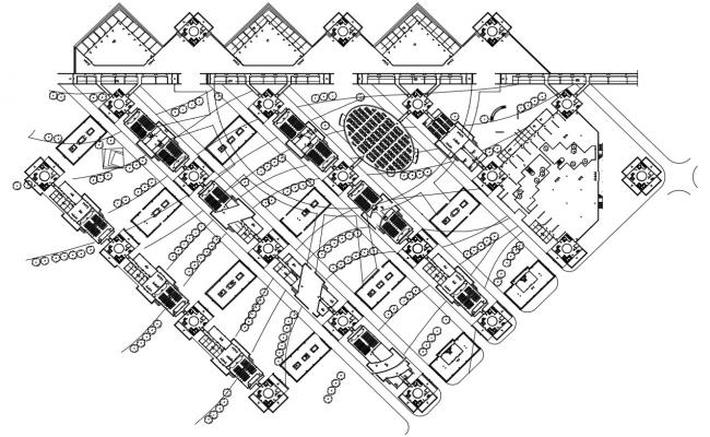 Download The Commercial Building Planning AutoCAD File Free