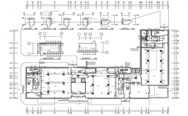 Download The Commercial Complex Plan With Working Drawing AutoCAD File Free