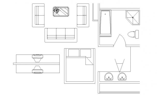 Download The Different Types Of Furniture Blocks AutoCAD File Free